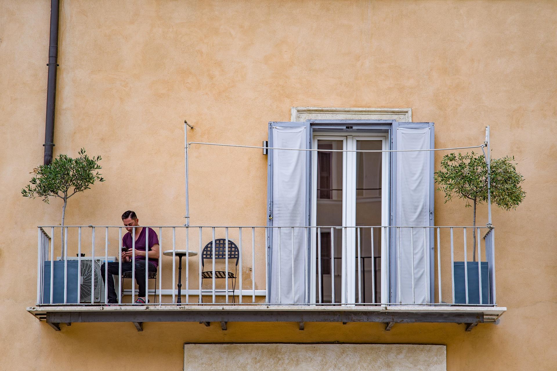 Typowy balkon  w Ameryce Południowej